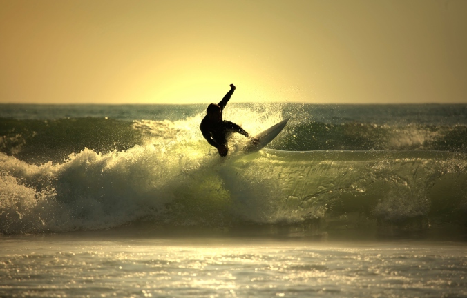 CarmelCalifornia - Carmel Sunset Surfing - Hi-Res